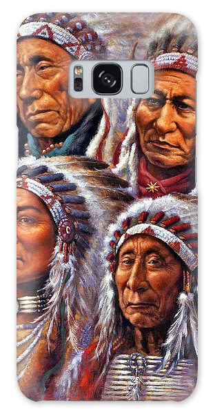 Four Great Lakota Leaders Galaxy Case by Harvie Brown