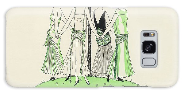 Influence Galaxy Case - Four Ladies Holding Hands, Wearing by Mary Evans Picture Library