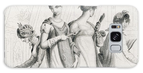 Influence Galaxy Case - Four Ladies In A Gallery Wear by Mary Evans Picture Library