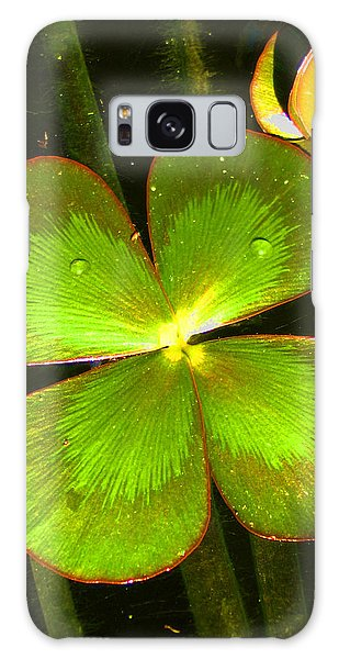 Four Leafed Clover Galaxy Case