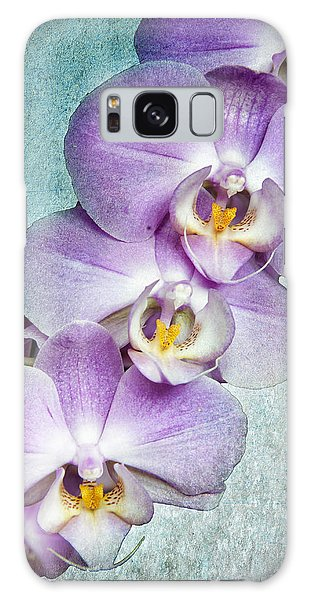Four Little Orchids Galaxy Case
