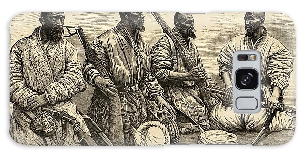 Influence Galaxy Case - Four Uighur Men From The  Far West by Mary Evans Picture Library