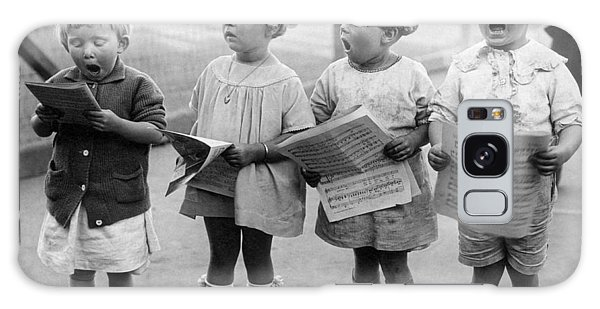 Four Young Children Singing Galaxy Case