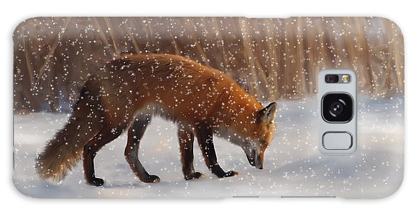 Fox In The Snow Galaxy Case