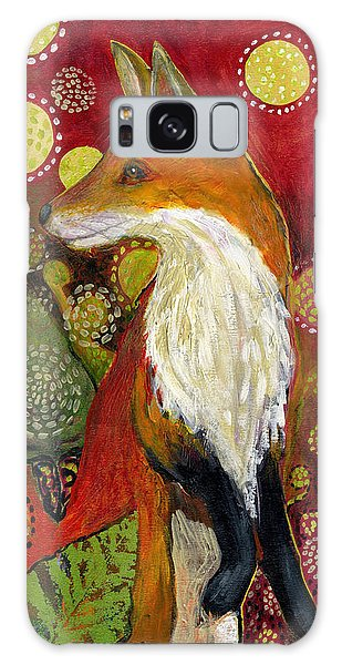 Wildlife Galaxy Case - Fox Listens by Jennifer Lommers