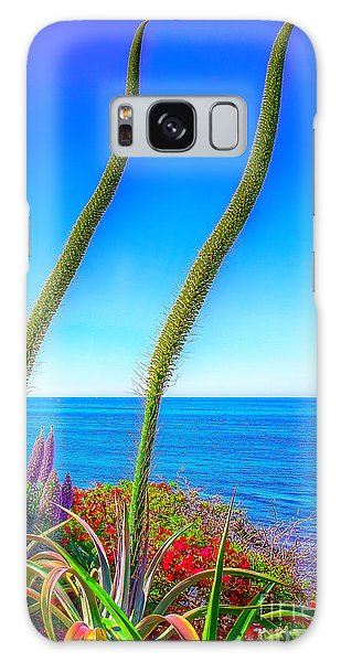 Foxtails On The Pacific Galaxy Case by Jim Carrell