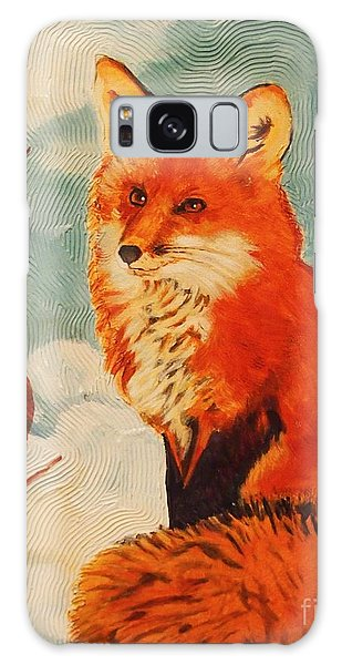 Foxy Presence Galaxy Case by Janet McDonald