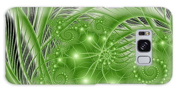 Fractal Abstract Green Nature Galaxy Case