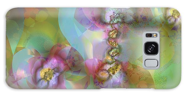 Fractal Blossoms Galaxy Case by Ursula Freer