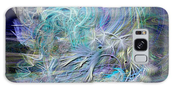 Fractal Feathers Blue Galaxy Case
