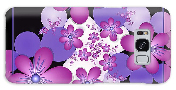 Fractal Flowers Modern Art Galaxy Case by Gabiw Art