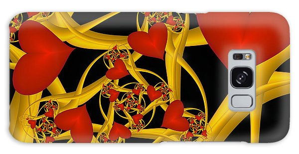 Fractal Love Ist Gold Galaxy Case by Gabiw Art