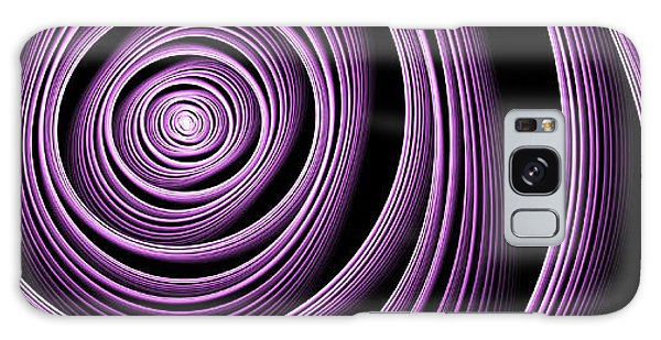 Fractal Purple Swirl Galaxy Case by Gabiw Art