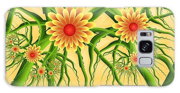 Fractal Summer Pleasures Galaxy Case by Gabiw Art