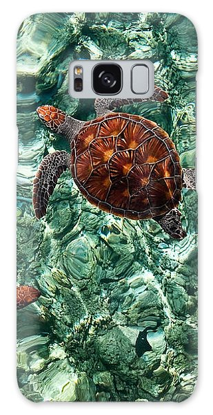 Fragile Underwater World. Sea Turtles In A Crystal Water. Maldives Galaxy Case by Jenny Rainbow