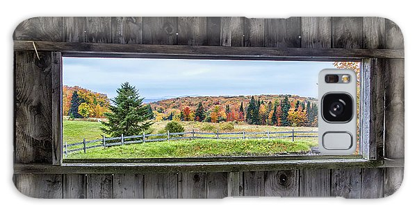 Framed-autumn In Vermont Galaxy Case