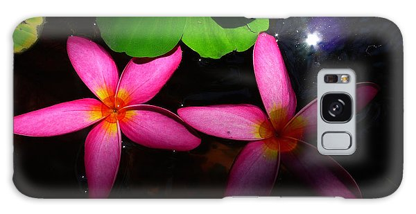 Frangipani Flowers On Water Galaxy Case
