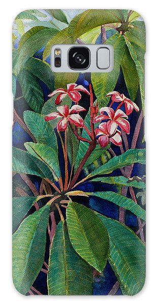 Frangipani Galaxy Case by Susan Duda
