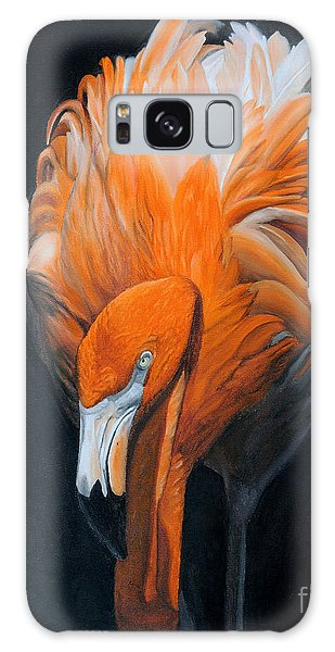 Frank The Flamingo Galaxy Case by Jane Axman