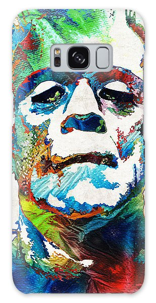 Frankenstein Art - Colorful Monster - By Sharon Cummings Galaxy Case