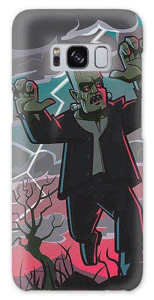Frankenstein Creature In Storm  Galaxy Case