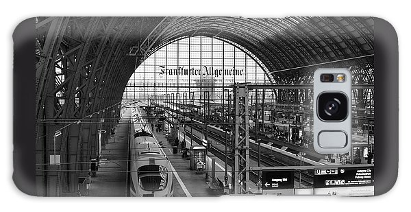 Frankfurt Bahnhof Galaxy Case by Miguel Winterpacht