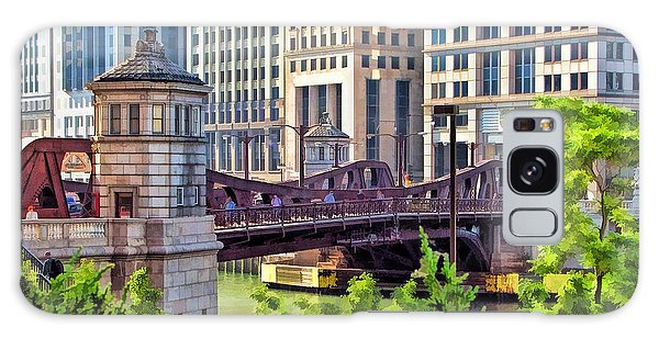 Chicago Franklin Street Bridge Galaxy Case