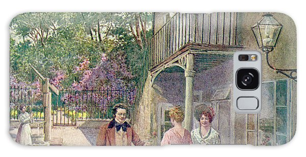 Schubert Galaxy Case - Franz With The Tscholl Sisters by Mary Evans Picture Library