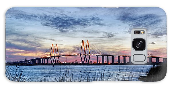 Fred Hartman Bridge At Twilight Hour Galaxy Case