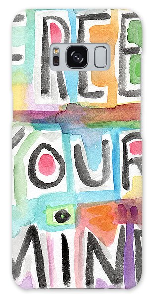 Motivational Galaxy Case - Free Your Mind- Colorful Word Painting by Linda Woods