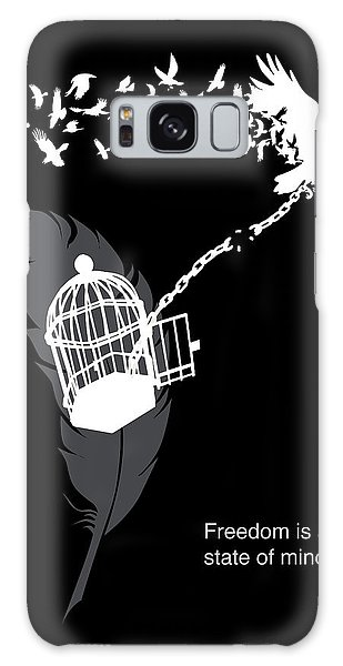 Crow Galaxy S8 Case - Freedom Is A State Of Mind by Sassan Filsoof