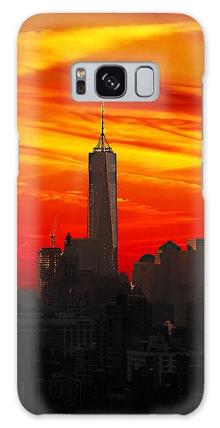 Galaxy Case - Freedom Tower At Sunset by Frank Savarese