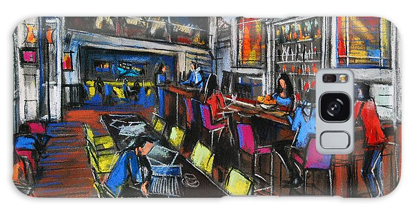 French Cafe Interior Galaxy Case