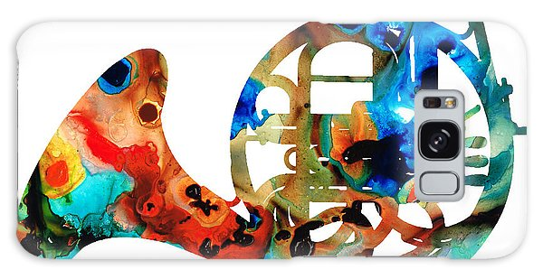 French Horn - Colorful Music By Sharon Cummings Galaxy Case