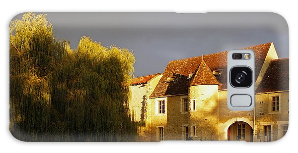 French House At Sunset Galaxy Case