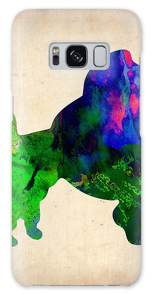 French Galaxy Case - French Poodle Watercolor by Naxart Studio