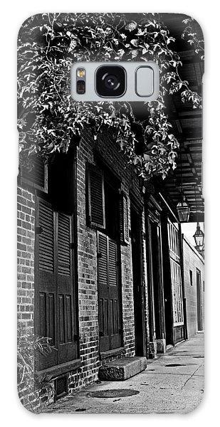 French Quarter Sidewalk Galaxy Case by Andy Crawford