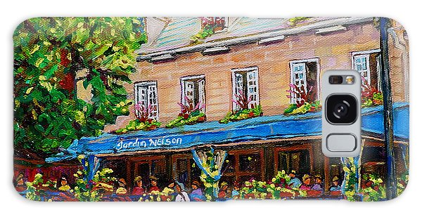 French Restaurant Jardin Nelson Paris Style Bistro Place Jacques Cartier Terrace Garden C Spandau   Galaxy Case