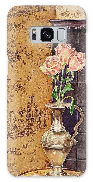 Wall Paper Galaxy Case - French Roses by Irina Sztukowski