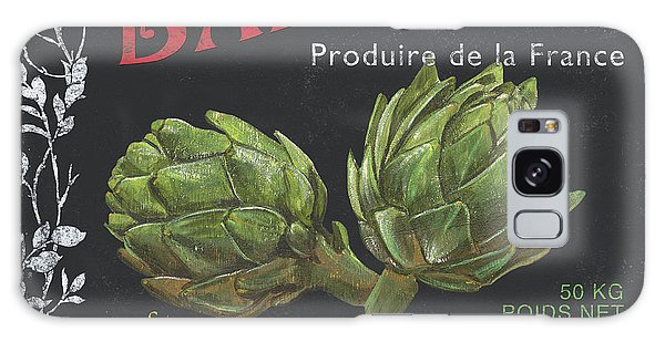 French Veggie Labels 1 Galaxy Case by Debbie DeWitt