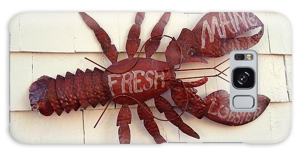 Fresh Maine Lobster Sign Boothbay Harbor Maine Galaxy Case by Patricia E Sundik