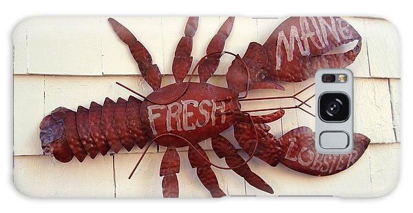 Fresh Maine Lobster Sign Boothbay Harbor Maine Galaxy Case