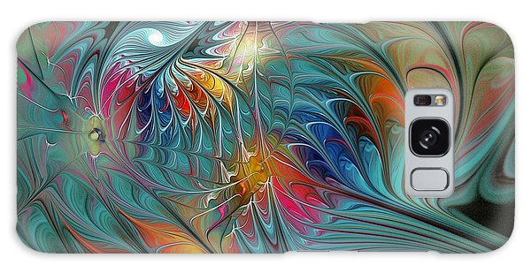 Fractal Design Galaxy Case - Fresh Mints And Cool Blues-abstract Fractal Art by Karin Kuhlmann