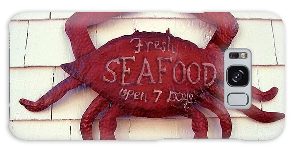 Fresh Seafood Sign Boothbay Harbor Galaxy Case by Patricia E Sundik