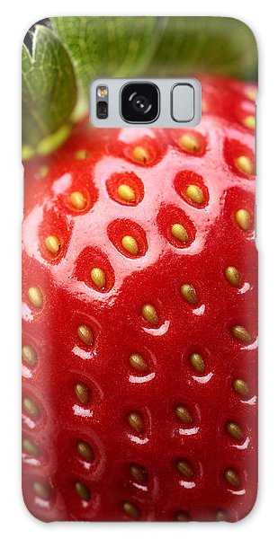 Strawberry Galaxy Case - Fresh Strawberry Close-up by Johan Swanepoel