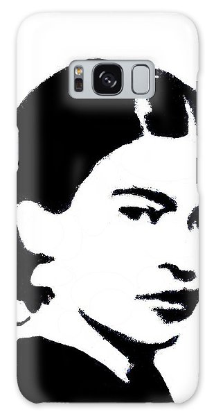 Galaxy Case featuring the mixed media Frida Black And White by Michelle Dallocchio