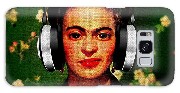 Galaxy Case featuring the mixed media Frida Jams by Michelle Dallocchio