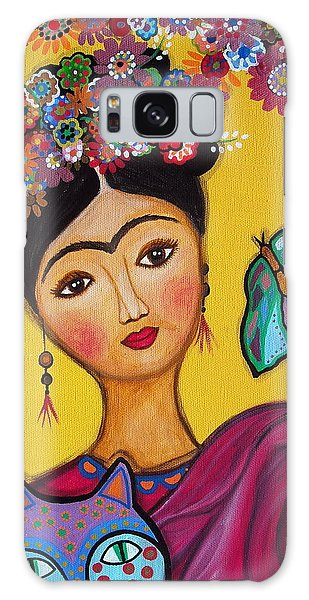 Frida Kahlo And Her Cat Galaxy Case