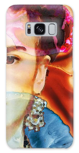 Frida Kahlo Art - Seeing Color Galaxy Case by Sharon Cummings
