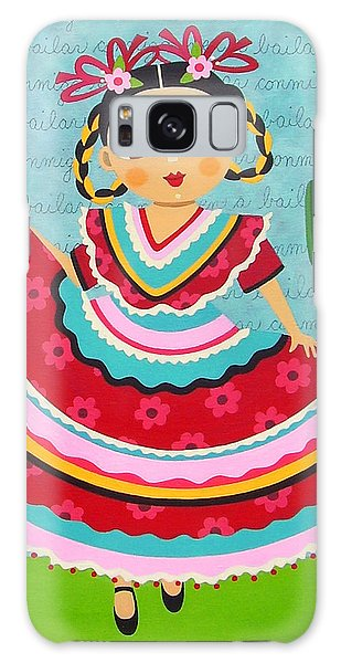 Galaxy Case Featuring The Painting Frida Kahlo In Traditional Dress By LuLu Mypinkturtle
